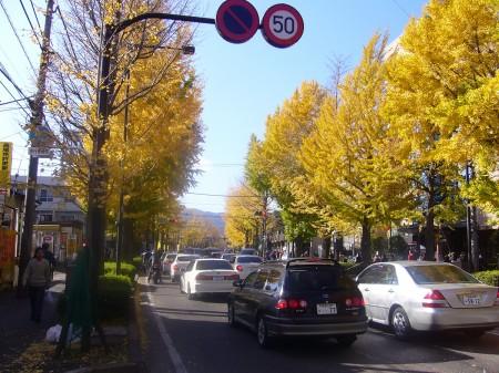 甲州街道の渋滞