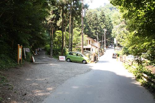 山道入り口
