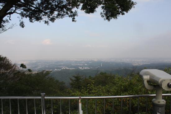 展望スペースからの景色。新宿方面が望める。空気が澄んでるとスカイツリーも!