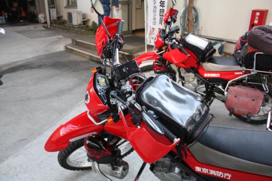 バイクはYAMAHAのセロー(250cc)