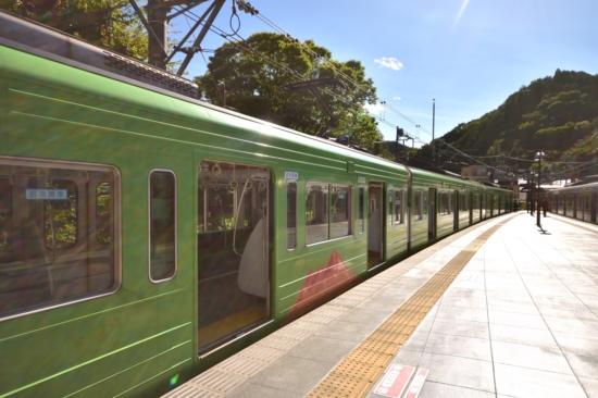 京王線を使って高尾山口へ。高尾山仕様のラッピング電車に乗れるとちょっと嬉しい^^