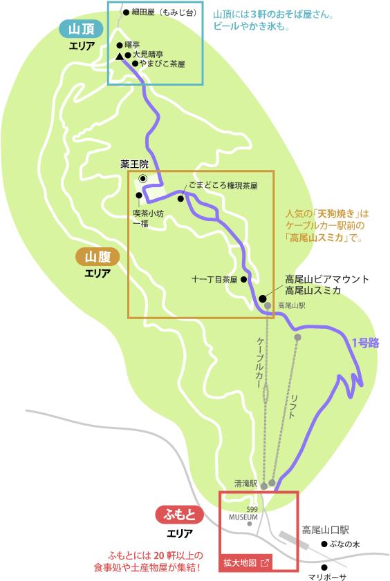 高尾山グルメマップ