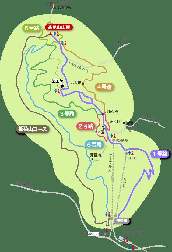 登山コース地図