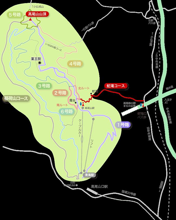 蛇滝コースイラストマップ